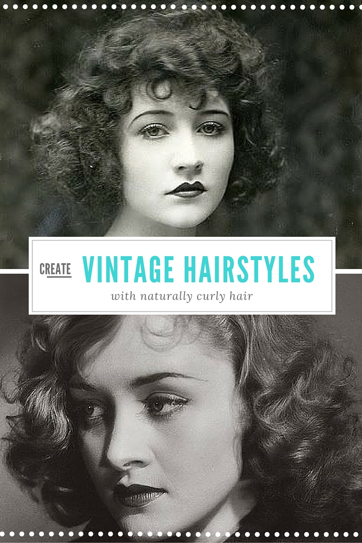 Astounding Vintage Hairstyles With Naturally Curly Hair Vintage Current Short Hairstyles Gunalazisus