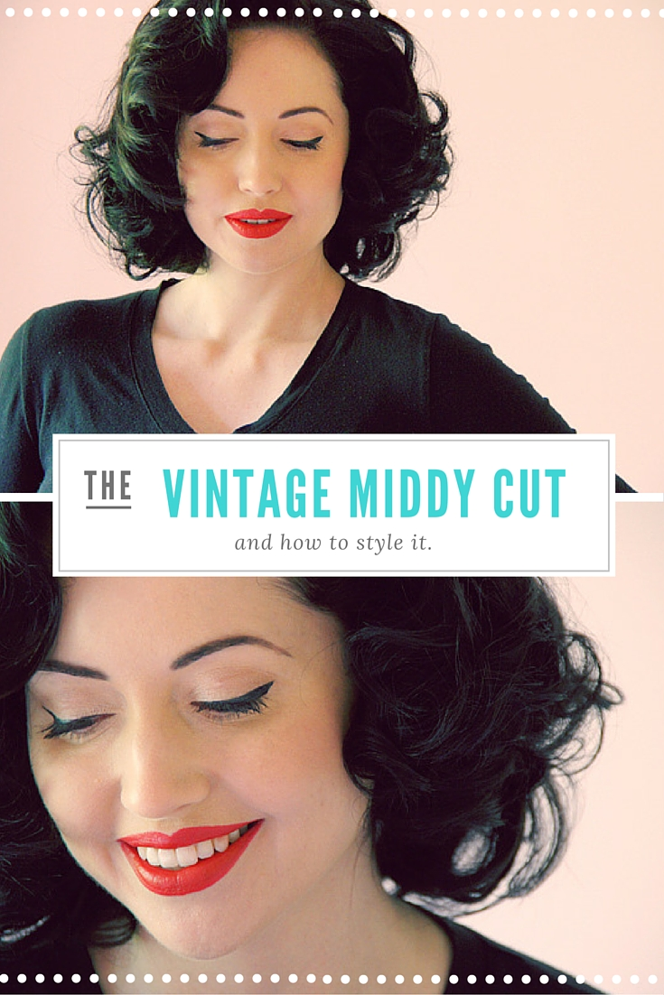 Middy hair Cut in Early 60's set hair style