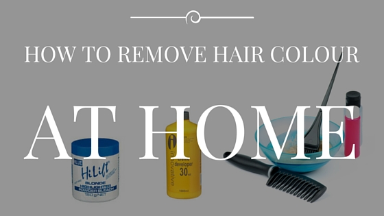How to remove hair colour