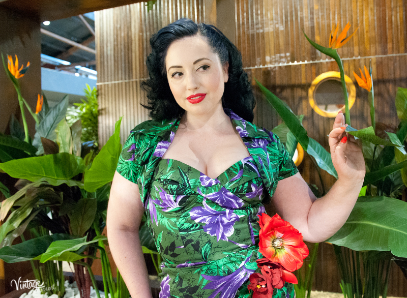 Vintage tropical hawaiian sarong dress by pin up girl clothing