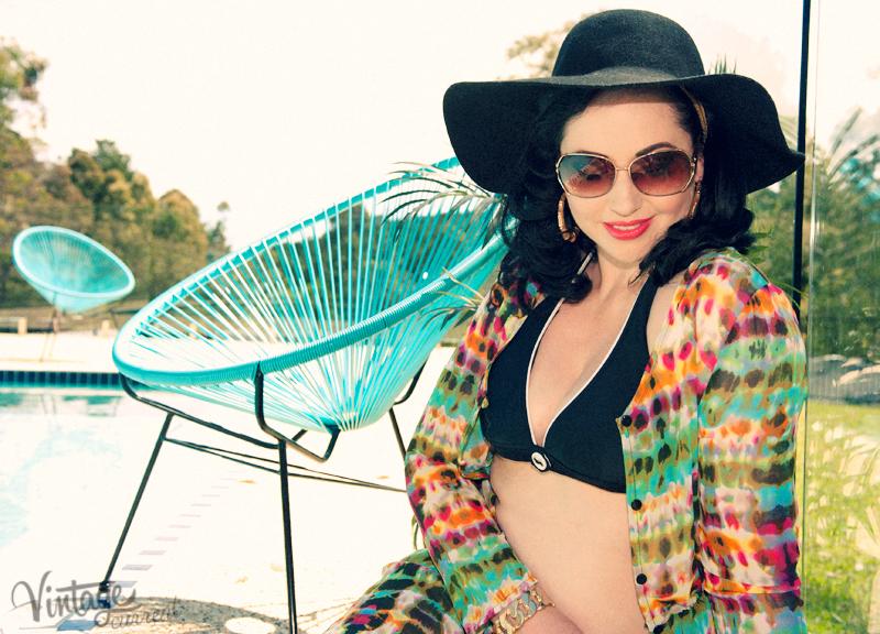 1970s summer bikini swimwear
