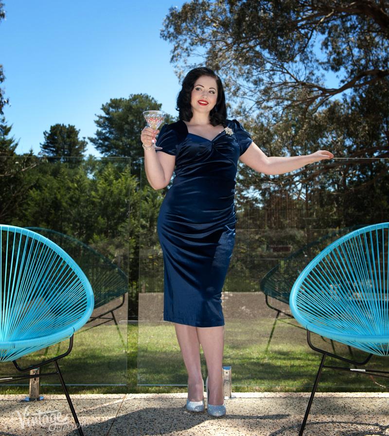 Blue Velvet vintage dress 4