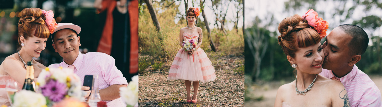 Vintage bridal hair makeup melbourne