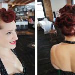 Vintage hair updo curls