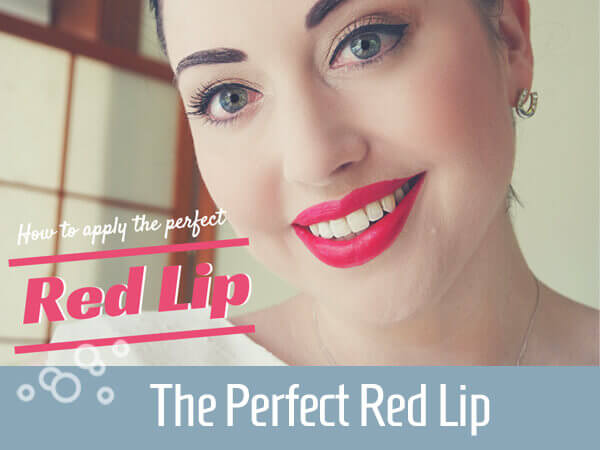 The perfect red lip title
