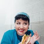 Candice DeVille at Burger Project copyright Rachel Devine