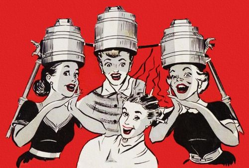 1950s vintage hair illustration