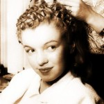 Marilyn Monroe with a wet set of pin curls