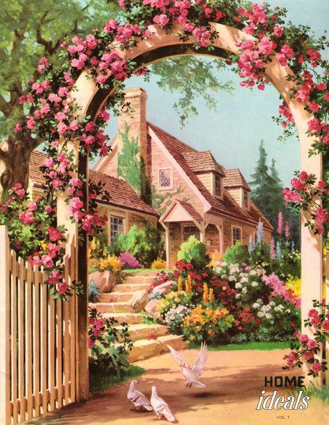 vintage garden roses