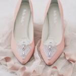 pale pink art deco shoes