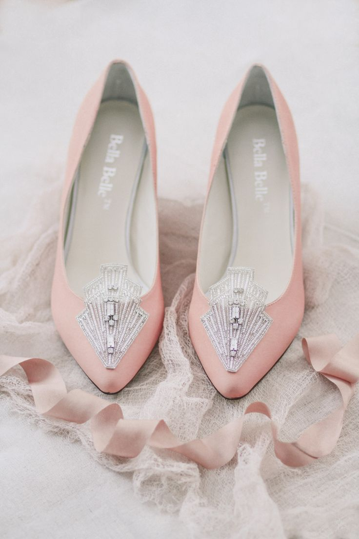 pale pink art deco shoes