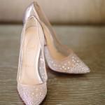 1950s style stiletto wedding shoes