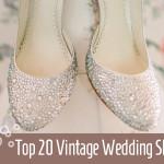 top 20 vintage wedding shoes