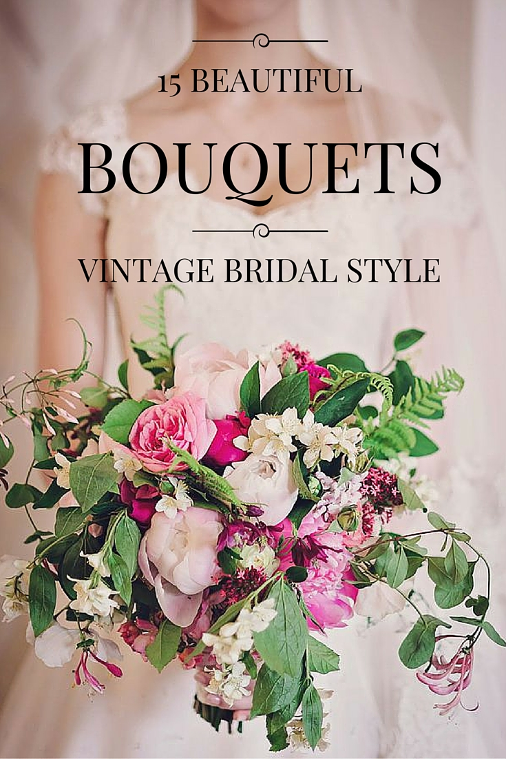 Vintage bridal bouquets