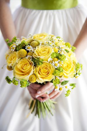vintage 70s bridal bouquet