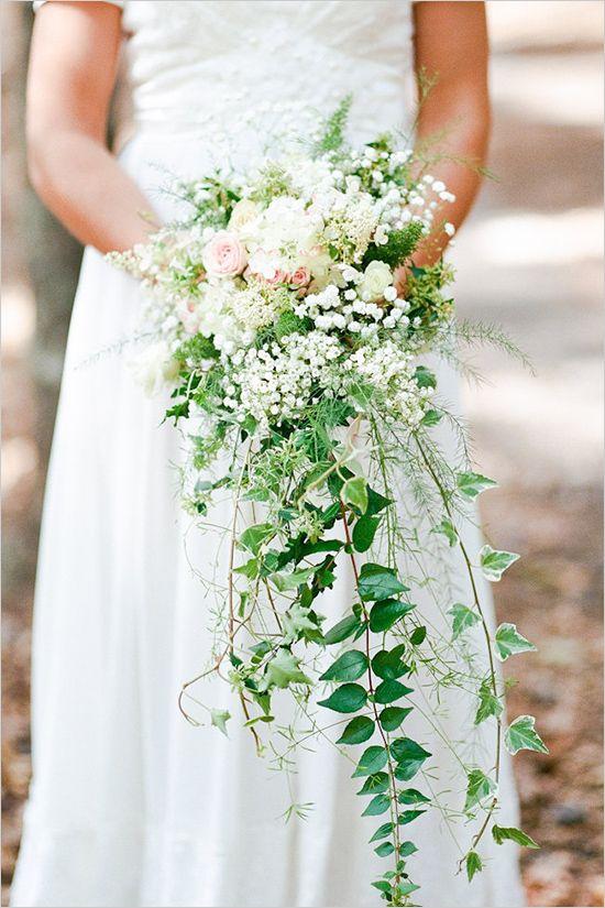 casading ivy vintage bridal bouquet