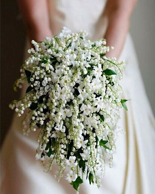 jasmine lilly of the valley vintage bridal bouquet