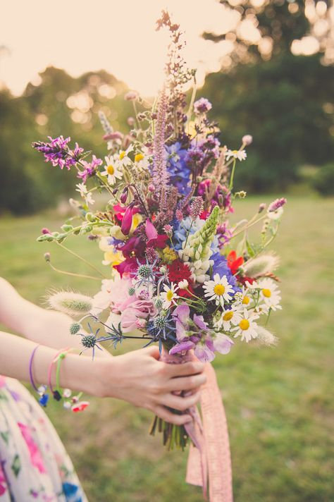 natural hippie vintage bridal bouquet