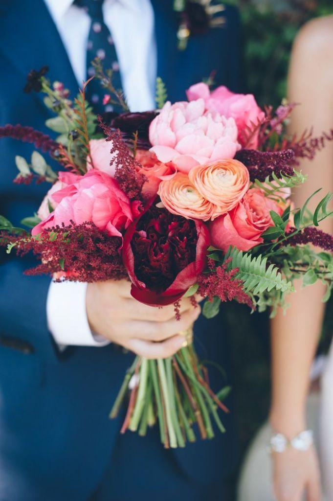 raspberry vintage bridal bouquet