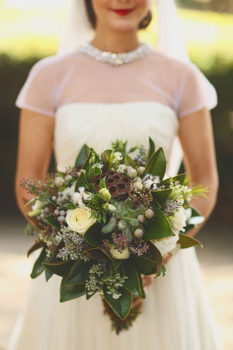 seed pod bridal bouquet
