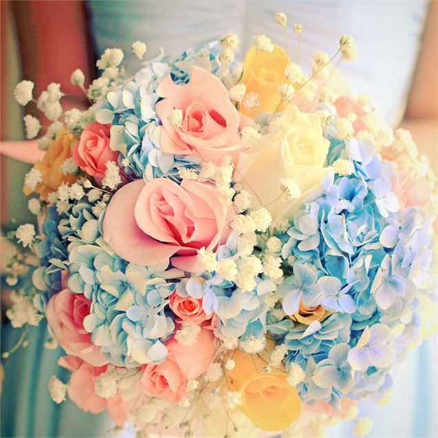 spring pastel vintage bridal bouquet