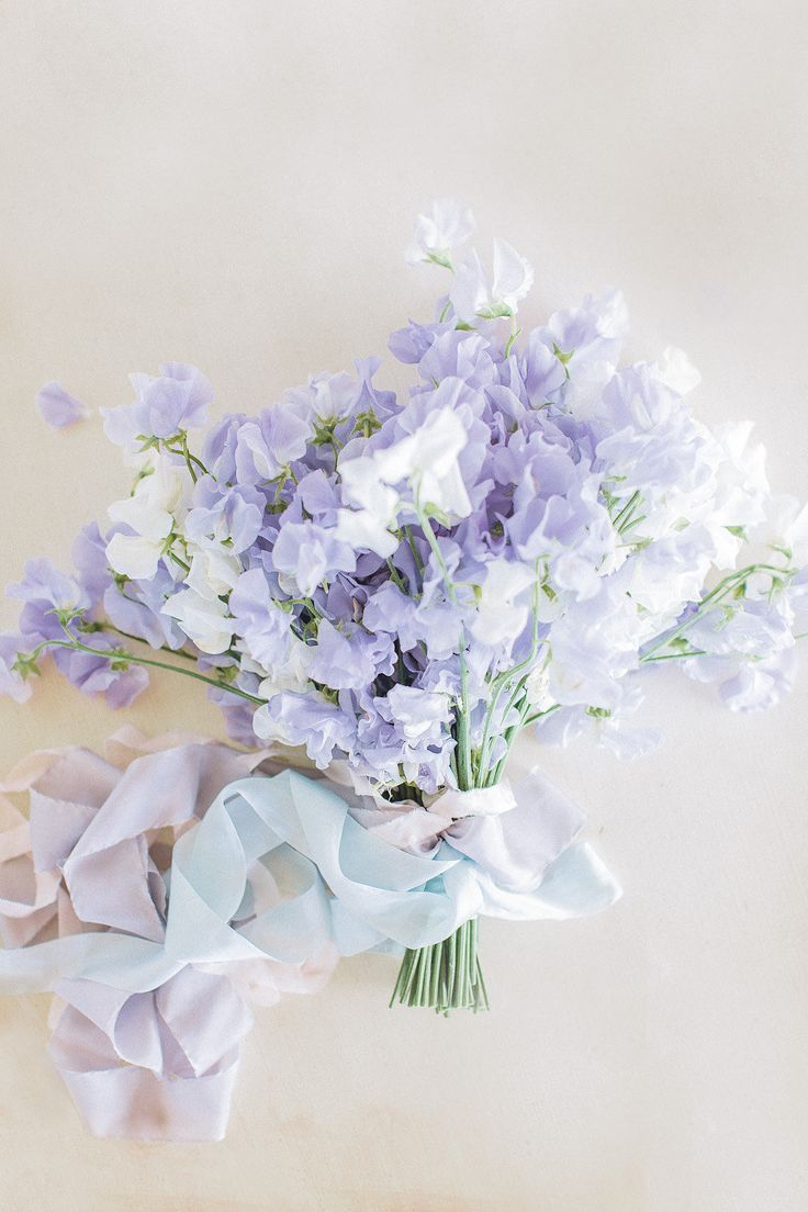 sweetpea vintage bridal bouquet