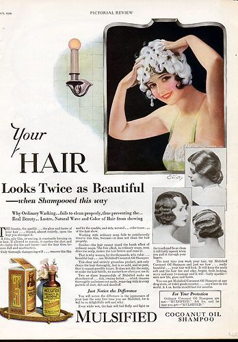 1920 hairstyle vintage ad