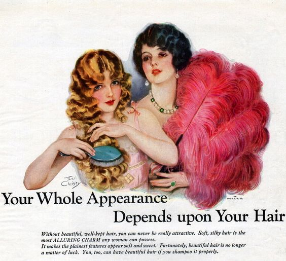 1920s hairstyle vintage ad