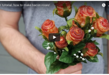 DIY Bacon Roses for Valentine's Day