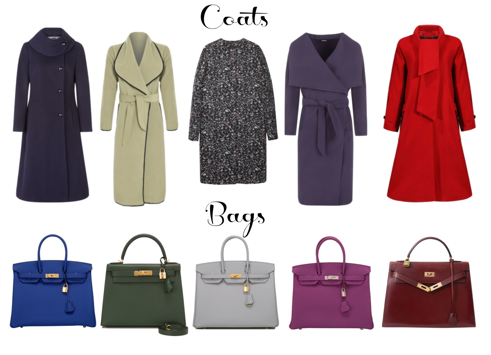 vintage corporate coats bags