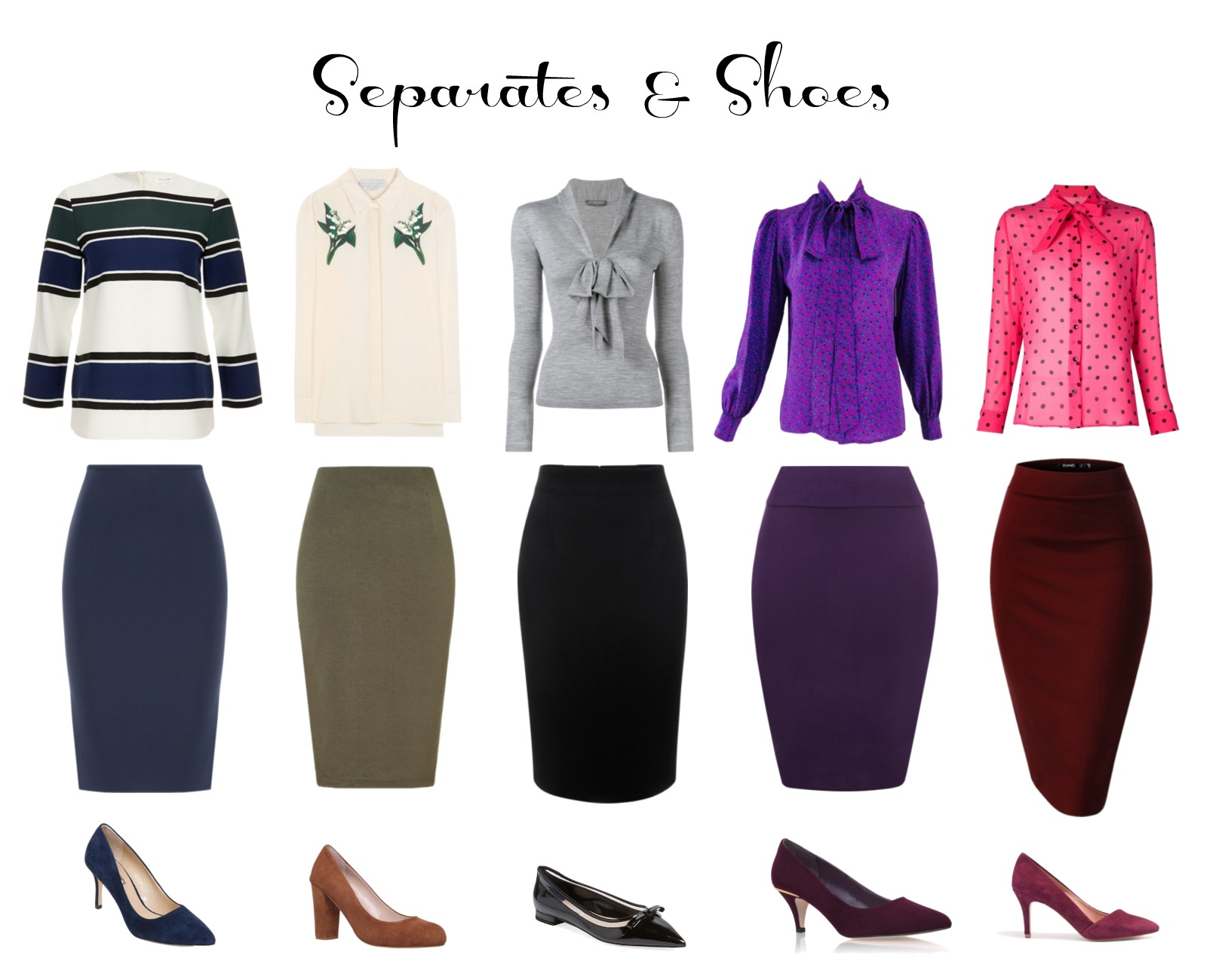 vintage style separates and shoes